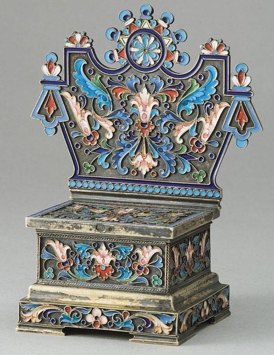 Овчинников Солонка в виде трона в русском стиле