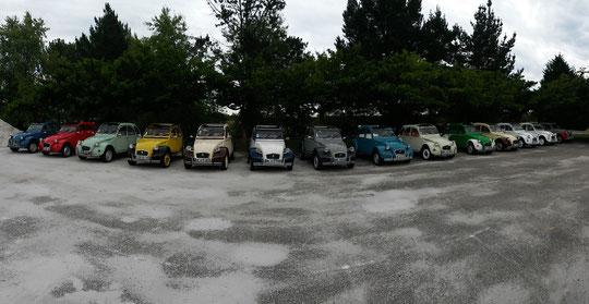 Rallye 2CV Bordeaux-Séminaire au départ du Golf du Pian