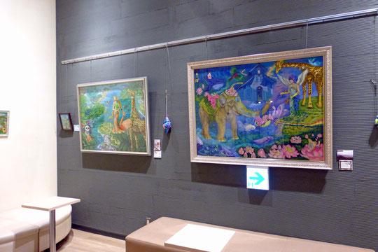 炎と楽園のアート 立花雪  作品展開期中ご覧いただきありがとうございました