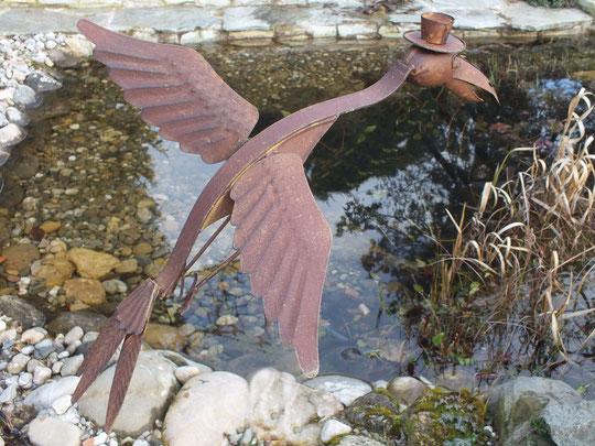 Spassvogel: Vogel aus Eisen