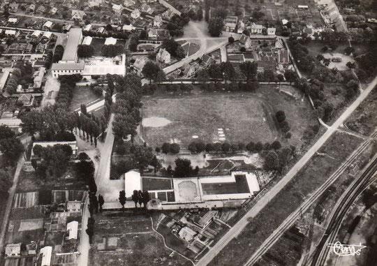 Laon, la Piscine et le Stade de la Cité des Cheminots