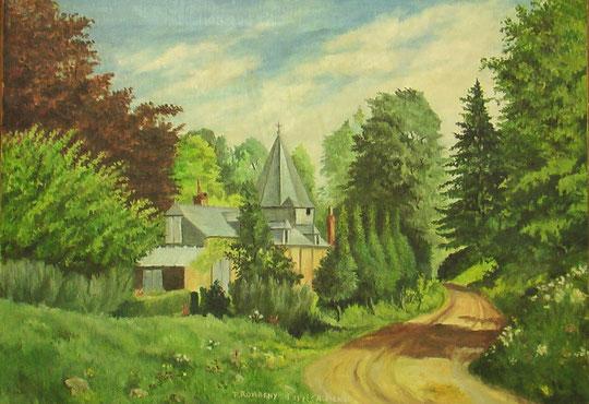 Copie réalisée par son petit fils, Pierre Romagny, qui a peint toutes les Eglises de Thiérache