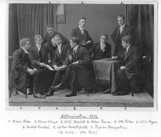 Eutiner Abiturienten 1911