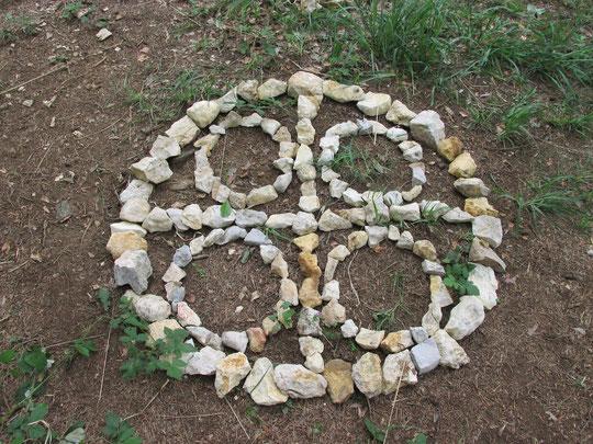 Den Traum-Kreis als Stein-Kreis nachgebildet.