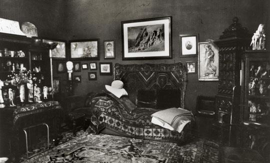 Cabinet de Sigmund Freud, 19 rue Berggasse à Vienne.