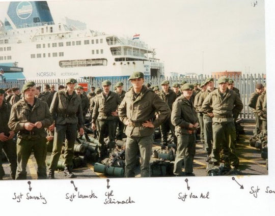 Sgt.Servaty-Sgt.Lamster-Cpl.Schumacher-Lt Caytan-Sgt.Van Ael-Sgt. Sarlette