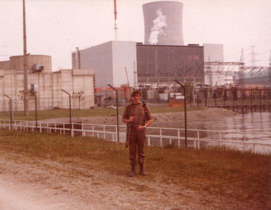 Wache im Atomkraftwerk Tihange
