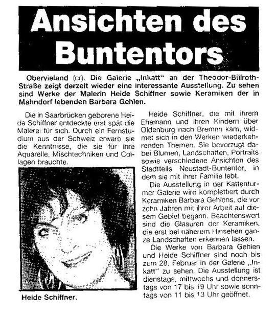Weser-Kurier 11.02.1991