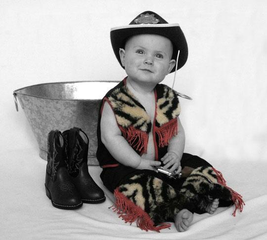 Cowboy mit Stiefeln