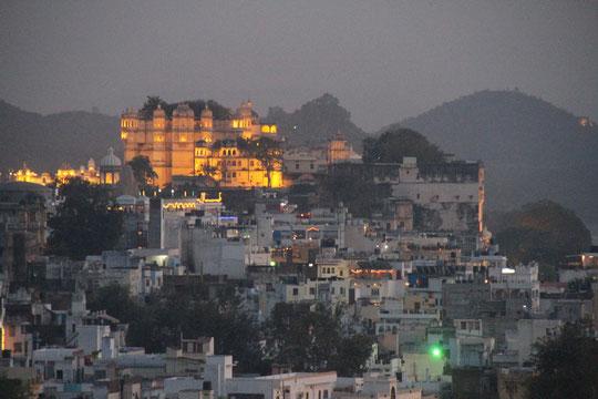 Udaipur bei Nacht