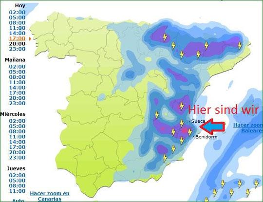 Gewitter in Spain