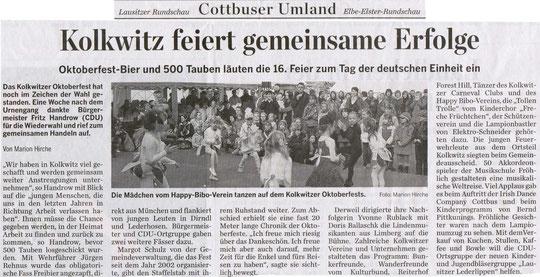16. Oktoberfest Kolkwitz - Okt. 2009