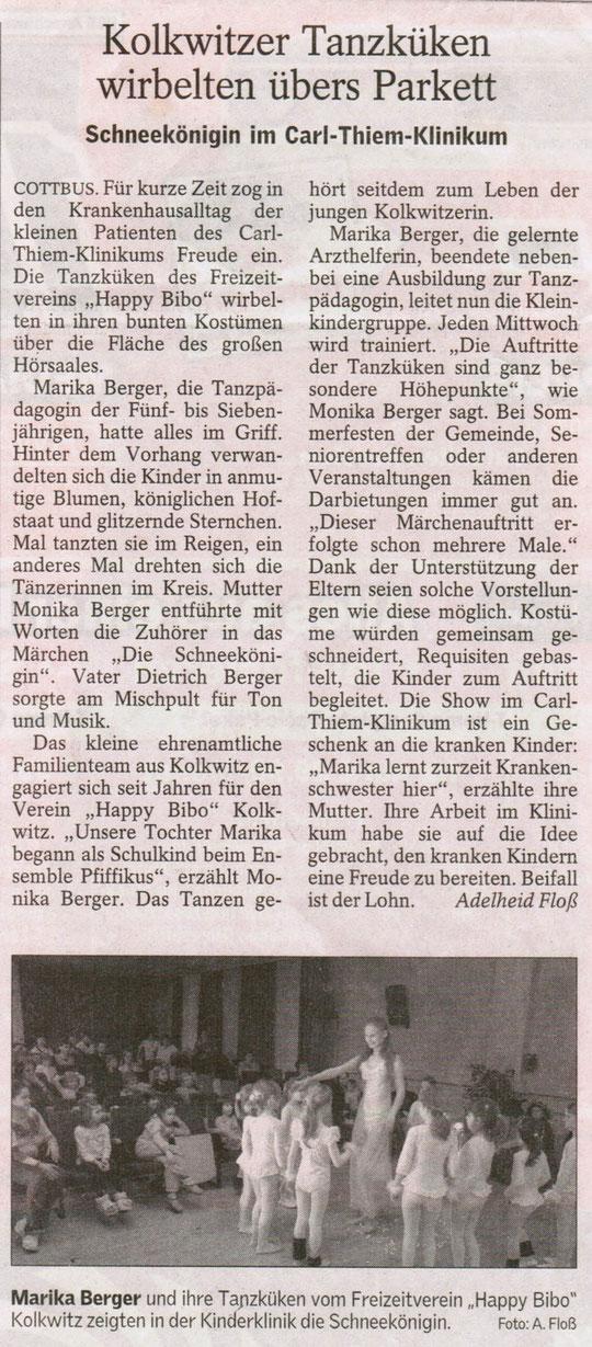 """""""Die Schneekönigin"""" im Carl-Thiem-Klinikum Cottbus - 2006"""