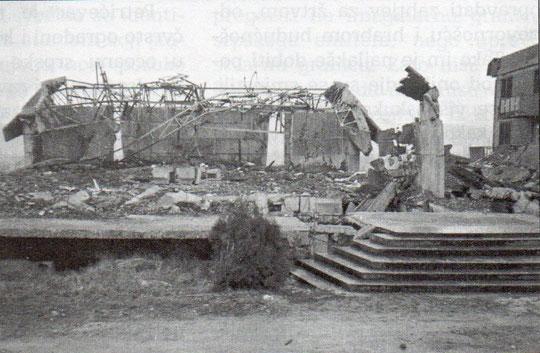 Porušena  crkva sv. Ante na Petrićevcu