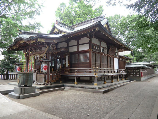 ●拝殿:三鷹八幡大神社は江戸時代の「明暦の大火」の後、神田連雀町からの移住民が創建した由緒ある神社