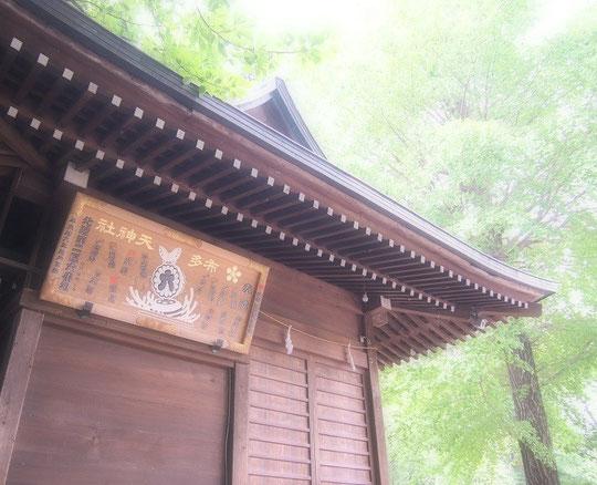 8月1日(2014) 布多天神社・神楽殿(調布市):布多天神社は、多磨地方有数の古社、創建から2千年近くになるという