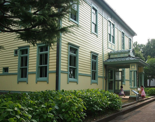 7月29日(2015)旧府中町役場:府中郷土の森博物館内にある復元建物。1921年(大正10)に竣工した町役場