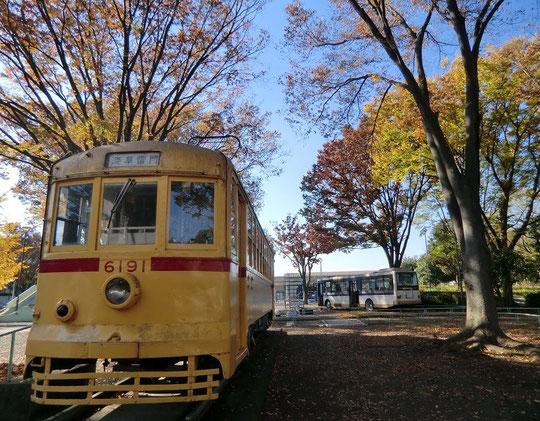 11月24日(2014) 昔の電車とバスと紅葉(11月21日、府中市郷土の森公園にて)