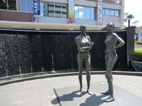 9月8日(2012) 街歩きの彫像(府中市役所前)8月23日撮影
