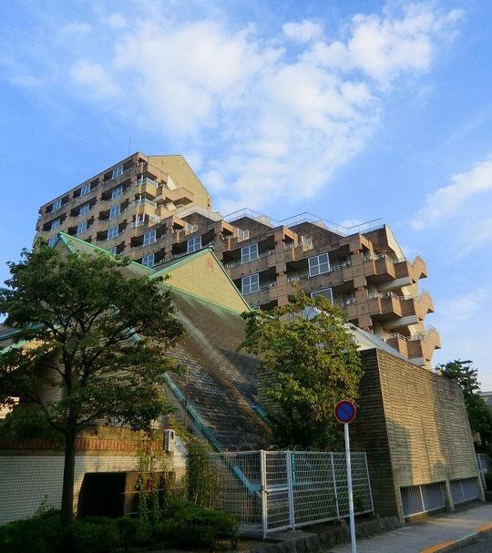 9月14日(2012) JR西国分寺駅近くの街路樹と集合住宅:9月12日撮影)