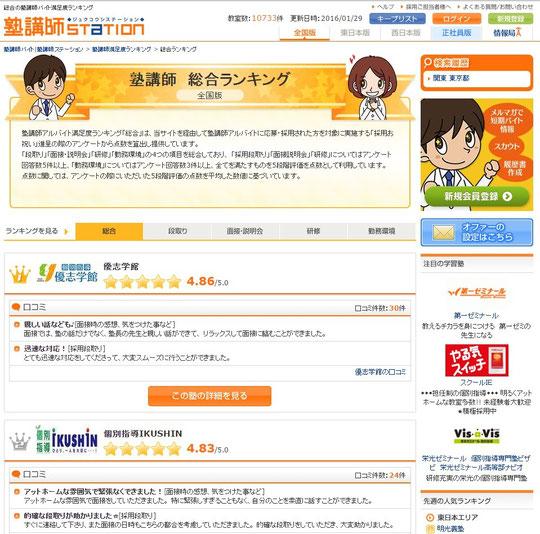 ↑塾講師ステーションWebサイト