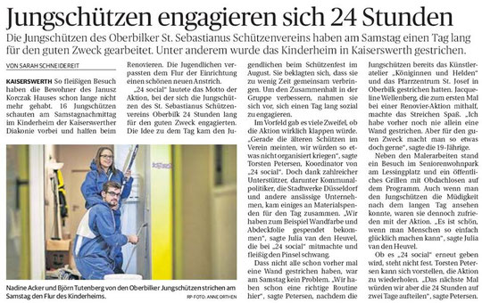 Rheinische Post Düsseldorf/Nord vom 10.11.2014