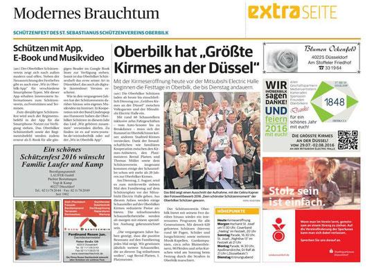 Rheinische Post vom 29.07.2016