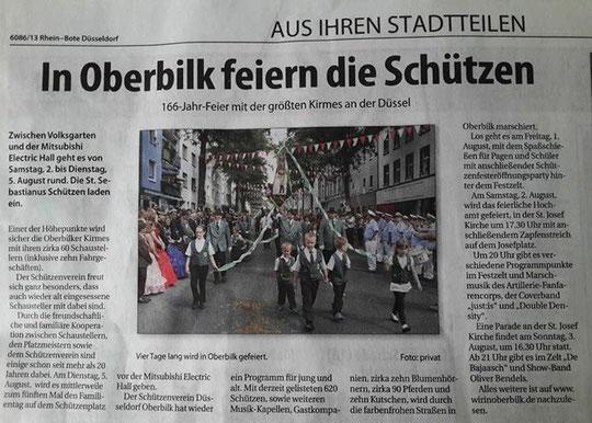 Rheinbote vom 30. Juli 2014
