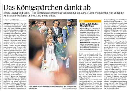 Rheinische Post vom 01.08.2016