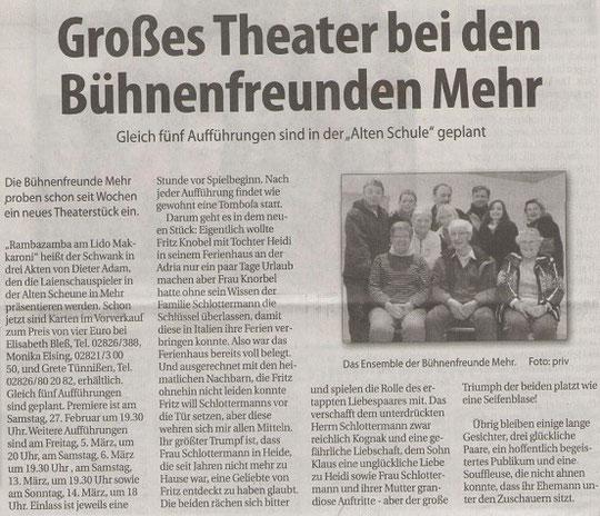 Klever Wochenblatt; Sonntag 17.Januar 2010