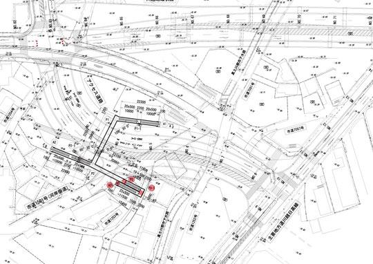横断歩道橋の図面