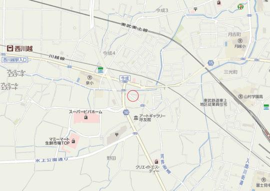 川越市小室付近の地図
