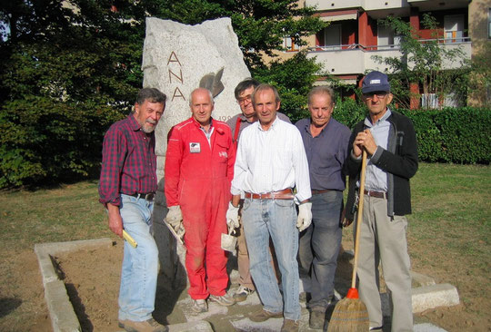 Il monumento sito in Viale della Repubblica, inaugurato in occasione del 25° Anniversario di Fondazione del Gruppo e ristrutturato nell'anno 2011 per il 150° Anniversario dell'Unità d'Italia