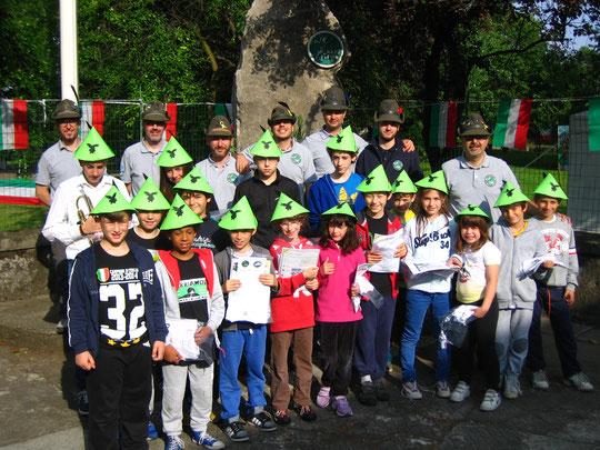 1 giugno 2014 - I partecipanti della 1° edizione della Notte Bianca degli Alpini, in occasione dei festeggiamenti per il 50° anniversario della fondazione del Gruppo di Paderno Dugnano