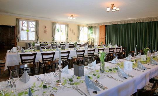 Grosser Saal für Anlässe und Feiern bis ca. 80 Personen