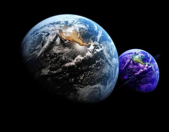 """Monde 3D """"SDS"""" en déclin <............> Néo-Monde 4D  """"SDA"""" en gestation"""
