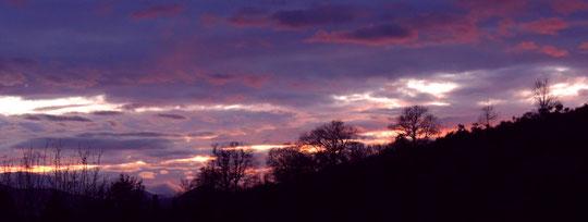 Crépuscule au dessus de Cassaignes