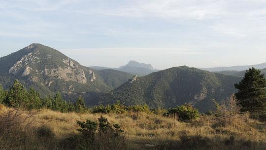 Le mont Cardou et la Bugarach
