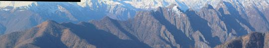 Da sinistra: Monte faiè, Cima Corte Lorenzo e Corni di Nibbio