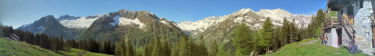 Veduta dall'Alpe Cicervald