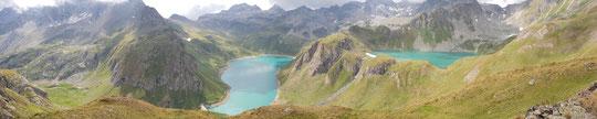 Panoramica sui laghi Vannino e Sruer