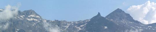 Il monte Moro, a sinistra