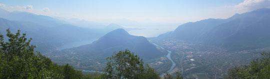 Panoramica sui laghi di Mergozzo e Maggiore