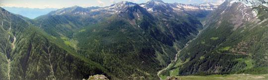 Le valli dalla vetta del Seehorn