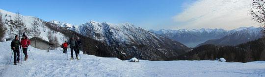 Veduta dall'alpe Paione