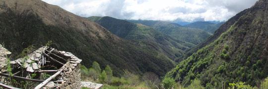 Veduta sulla valle da Onunchio m. 1131