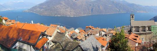 Sant'Agata e il lago Maggiore