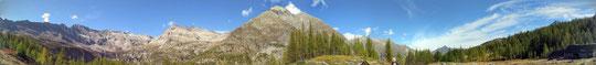 Panoramica dall'alpe Lareccio  m. 1853