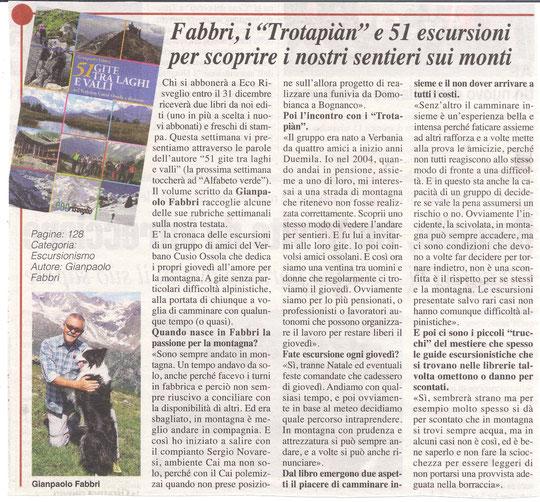 L'intervista a Gianpaolo per la presentazione del suo libro sulle nostre escursioni edito da Eco Risveglio