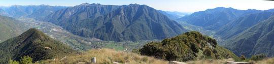 La Val D'Ossola dal Pizzo Castello